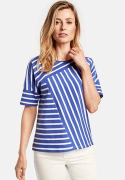 Gerry Weber - T-Shirt basic - blau/ecru/weiss ringel