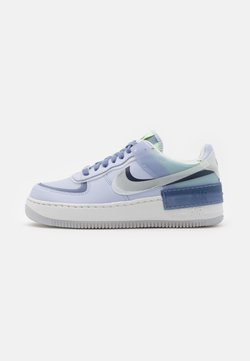 Nike Sportswear - AIR FORCE 1 SHADOW - Sneakers basse - ghost/summit white/world indigo/barely volt