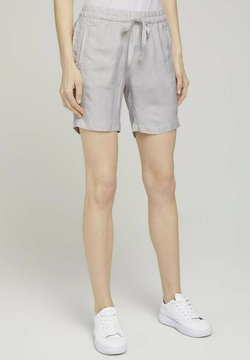 TOM TAILOR - Shorts - offwhite thin stripe woven