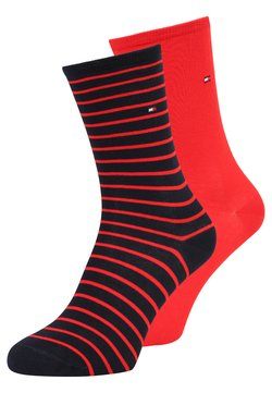 Tommy Hilfiger - WOMEN SMALL STRIPE 2 PACK - Socken - red/navy