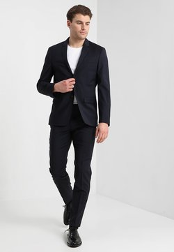Calvin Klein Tailored - WOOL NATURAL STRETCH FITTED SUIT - Kostuum - true navy