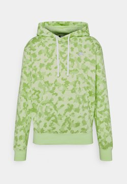 Nike Sportswear - CLUB HOODIE CAMO - Sweatshirt - liquid lime/white