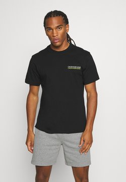 Calvin Klein Jeans - SKATER PHOTO NEON TEE - T-Shirt print - black