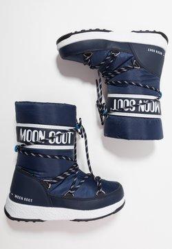 Moon Boot - BOY SPORT WP - Śniegowce - navy blue/white