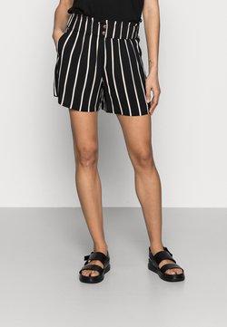 TOM TAILOR DENIM - Shorts - black/beige