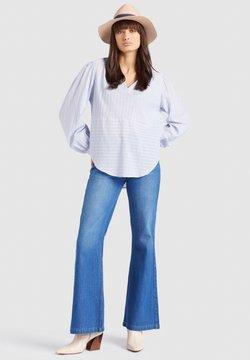 khujo - DOBAH - Bluse - blue/white