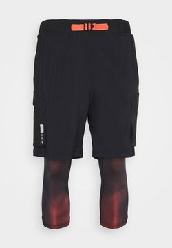 Under Armour - RUN ANYWHERE 2 IN 1 SHORT - Tights - black