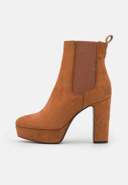Anna Field - Platform ankle boots - cognac