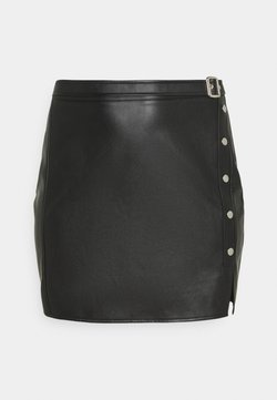 Missguided Plus - SPLIT MINI SKIRT - Minirock - black