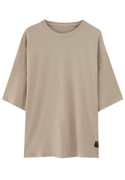 PULL&BEAR - LOOSE - T-shirt basic - beige