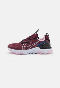 Nike Sportswear - REACT VISION UNISEX - Sneaker low - dark beetroot/metallic silver/black/pink foam