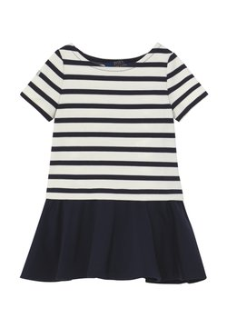 Polo Ralph Lauren - PONTE DRESS - Jerseykleid - hunter navy/clubhouse cream
