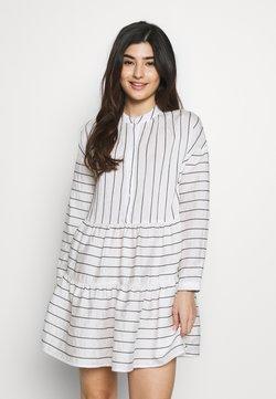 Vero Moda Petite - VMHANNAH BUTTON TUNIC VIP PETIT - Shirt dress - snow white/black