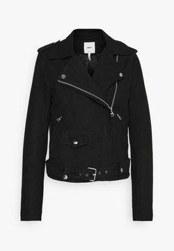 Object Tall - OBJNANDITA JACKET SEASONAL - Leather jacket - black