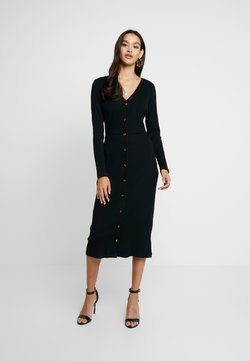 Glamorous - FRIDAY LONG SLEEVES BUTTON FRONT DRESS - Korte jurk - black