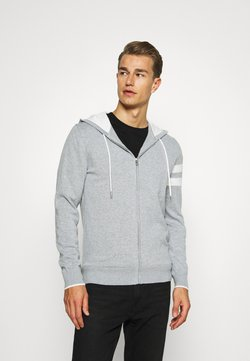 Tommy Hilfiger Tailored - ICON STRIPE HOODY - Vest - grey