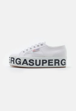Superga - PLATFORM LETTERING - Trainers - white