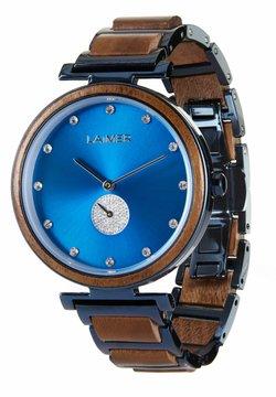 LAIMER - LAIMER QUARZ HOLZUHR - ANALOGE ARMBANDUHR MIRIAM - Uhr - blue/brown