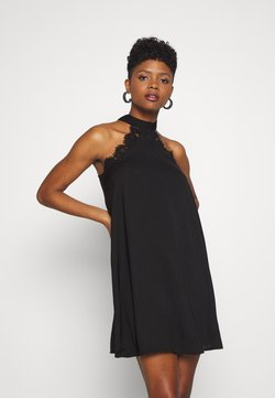Vero Moda - VMLOVELY HALTERNECK SHORT DRESS - Robe de soirée - black