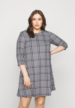 CAPSULE by Simply Be - 3/4 SLEEVE SWING - Jerseykleid - dogtooth