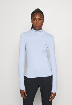 Salomon - COMET SEAMLESS HOODIE - Camiseta de manga larga - kentucky blue/artic ice