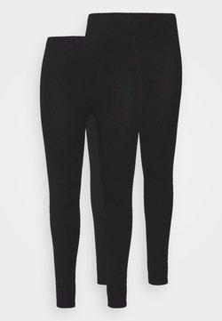 New Look Curves - 2 PACK - Leggings - Hosen - black
