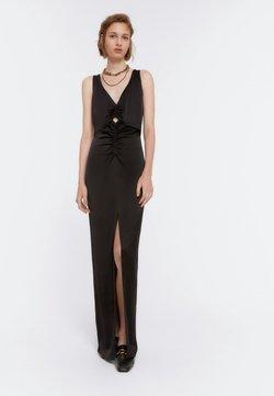 Uterqüe - MIT SCHLITZEN - Vestito elegante - black
