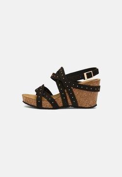 Copenhagen Shoes - PLEASURE - Sandaler m/ kilehæl - black
