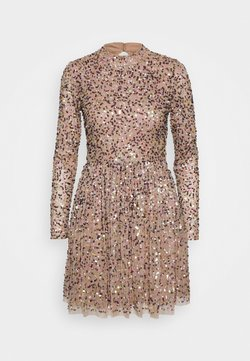 Maya Deluxe - ALL OVER SEQUIN LONG SLEEVE MINI DRESS - Vestido de cóctel - multi