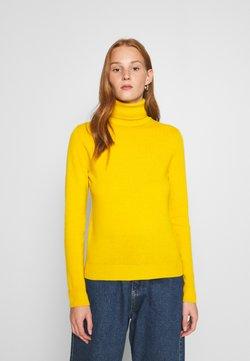 Benetton - TURTLE NECK - Sweter - mustard