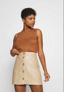 JDY - JDYELANOR VEST - Top - leather brown