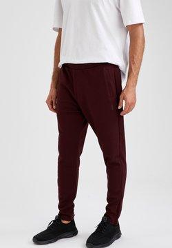 DeFacto Fit - Spodnie treningowe - bordeaux