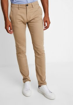 TOM TAILOR - WASHED STRUCTURE CHINO - Chinot - beige