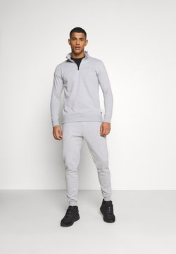 Burton Menswear London - REGULAR FIT 1/2 ZIP SET - Sweatshirt - grey melange