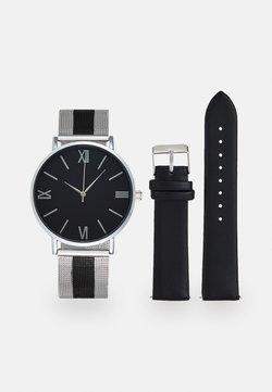 Pier One - SET - Uhr - silver-coloured/black