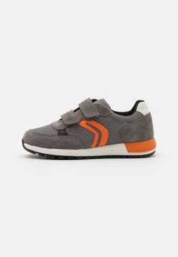 Geox - ALBEN BOY - Sneaker low - grey/orange