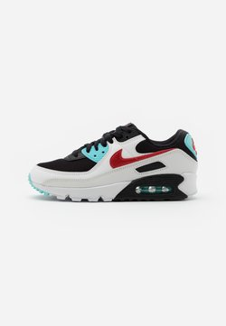 Nike Sportswear - AIR MAX 90 - Sneakers - summit white/chile red/bleached aqua/black
