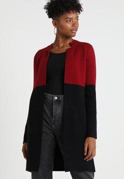 Morgan - BLOCK - Cardigan - burgundy/black
