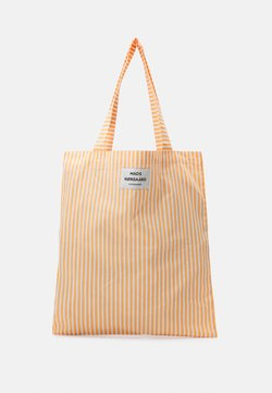 Mads Nørgaard - SACKY ATOMA - Shopping bag - tangerine/off white
