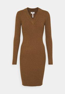 Object - OBJFAE THESS DRESS - Stickad klänning - brown