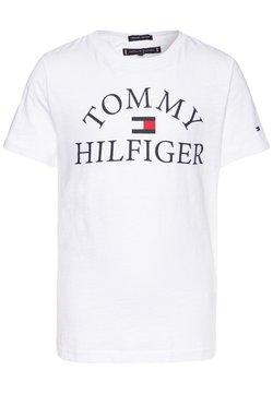 Tommy Hilfiger - ESSENTIAL LOGO - T-shirt imprimé - white
