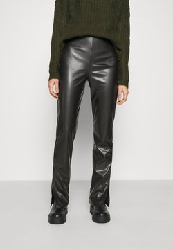 Nly by Nelly - SIDE CUT PANTS - Trousers - black