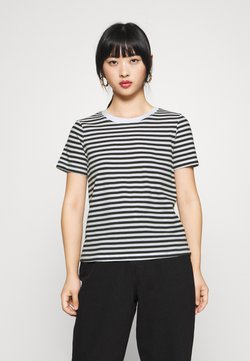 Even&Odd Petite - T-shirt print - black/white