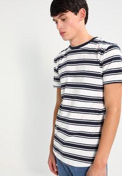 Urban Classics - DOUBLE STRIPE - T-Shirt basic - offwhite/navy