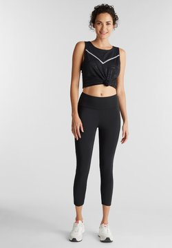 Esprit Sports - MIT REFLEKTOR TAPES - Tights - black