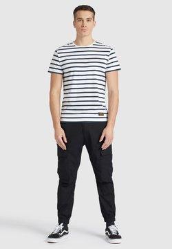 khujo - SAER - T-Shirt print - white