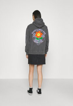 BDG Urban Outfitters - HAVE A NICE DAY HOODIE - Sweater - washed black