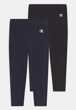 Champion - AMERICAN CLASSICS PANTS 2 PACK UNISEX - Leggings - black/navy