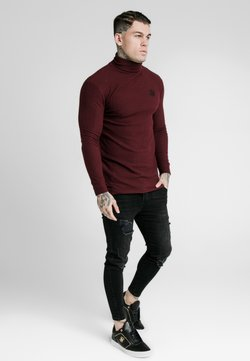 SIKSILK - LONG SLEEVE BRUSHED TURTLE NECK - Pullover - burgundy