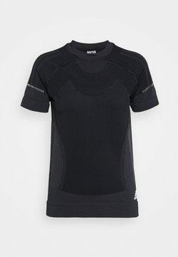 adidas Performance - PRIMEKNIT TEE W - Camiseta estampada - black/dgsogr